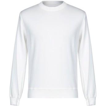 《セール開催中》ORIGINAL VINTAGE STYLE メンズ スウェットシャツ ホワイト S リネン 66% / コットン 30% / ポリウレタン 4%
