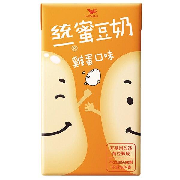 統一 蜜豆奶 雞蛋口味 250ml (24入)x3箱【康鄰超市】