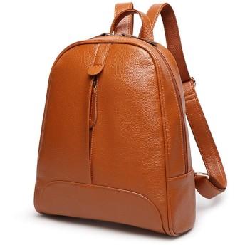 レディースデザイナーサッチェルトートバッグショルダーバッグパッドレザーレディース財布&ハンドバッグ (Color : オレンジ, Size : One Size)