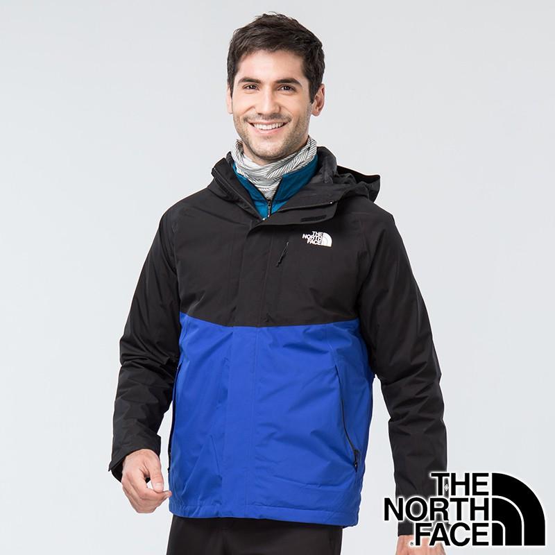 【THE NORTH FACE 美國】男GORE-TEX二件式羽絨連帽外套『EF1藍/黑』NF0A3VSH