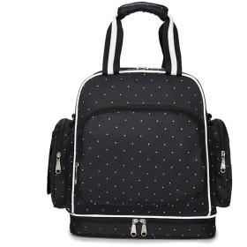 Zisen ママバッグ 防水 軽量 多機能 大容量 4Way ショルダーバッグ、メッセンジャーバッグ、ハンドバッグ、折り畳み可能ベビーカーバッグ が おしゃれ で かわいい ママに最適