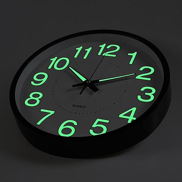 時尚掛鐘12英寸30CM 夜光掛鐘 石英鐘表臥室客廳掛鐘表簡約時鐘定制