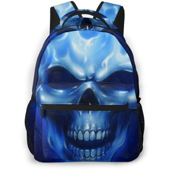 Dark Blue Skeleton カメラリュック スタイリッシュな 多機能 カジュアルデイパック ポリエステル 通勤/通学/出張/旅行などに適用 メンズ女性