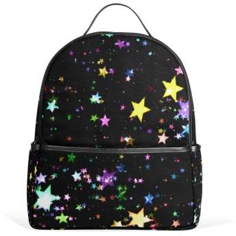 リュック リュックサック バックパック レディース 学生 大容量 デイバッグ ブラック 黒 星柄 おしゃれ 通勤 通学