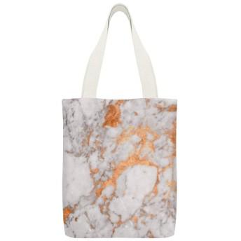 白い大理石の銅布団カバー読者のための再利用可能な洗える100%エコフレンドリーなトートバッグ、および愛好家旅行バッグ、ショッピングバッグ