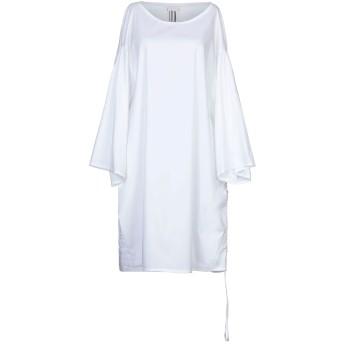 《セール開催中》L.V.N. レディース ミニワンピース&ドレス ホワイト 42 コットン 68% / ナイロン 28% / ポリウレタン 4%