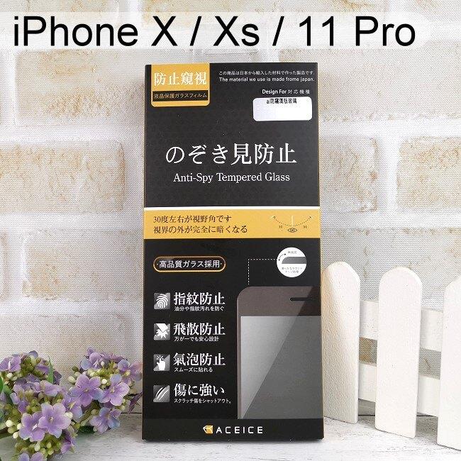 【ACEICE】防窺滿版鋼化玻璃保護貼 iPhone X / Xs / 11 Pro (5.8吋) 黑