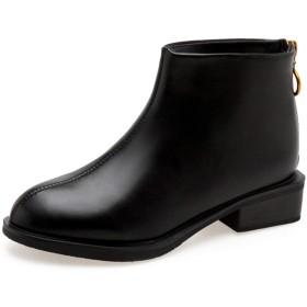 [AJGLJIYER LTD] 入学式 卒業式 袴 ブーツ ブラック ハロウィン ショートブーツ 身長アップ ぺたんこ 25.0cm ブーツ レディース ワイズ 3E 歩きやすい 幅広 甲高 フラットシューズ 疲れない 足が痛くならない 靴 厚底 かわいい ブーティ