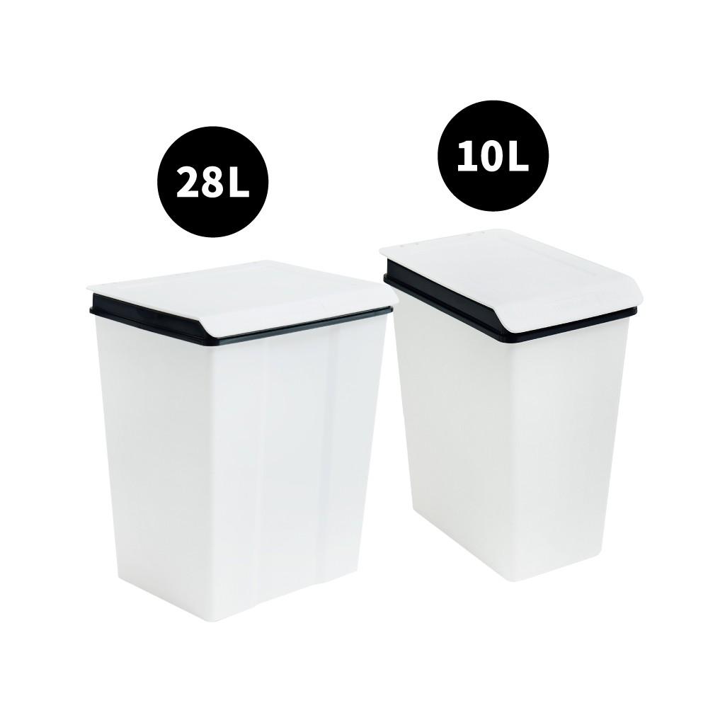 完美主義|大嘴鳥回收桶10L/28L 樹德MIT台灣製 收納筒 收納箱 回收桶 垃圾桶【R0127 /R0128】