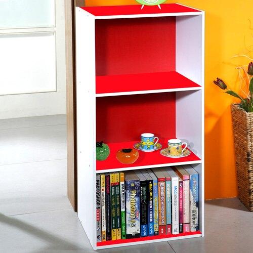 空櫃/三格/收納 TZUMii 普普雙色三空櫃-紅+白