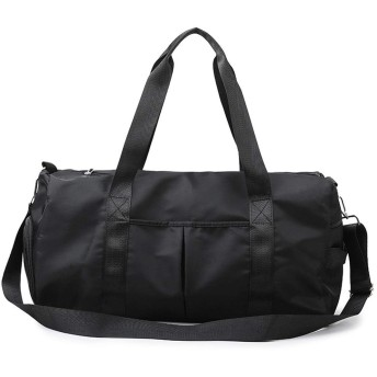 Sukipu ジムバッグダッフルバッグユニセックススポーツフィットネスリュック靴ドライとウェット分離ヨガフィットネスバッグ (色 : ブラック)