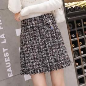 ツイード スカート ボックス 秋冬 ミニスカート 台形 ウール 台形スカート 上品 ツイードスカート