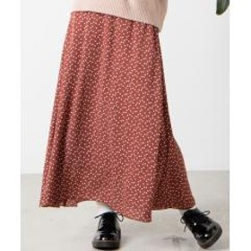 WEGO/アソートパターンセミフレアロングスカート