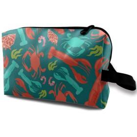ロブスタークラブエビ 化粧品袋 化粧箱 化粧品収納バッグ ウォッシュバッグ 化粧ポーチ トイレタリーバッグ メイクポーチトラベルバッグ 人気 大容量 機能的