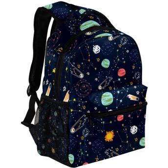 Carrozza リュックサック 学生 リュック 大容量 ディバッグ レディース 子供 おしゃれ 通勤 星 星座 宇宙柄 バックパック 通学 メンズ かわいい