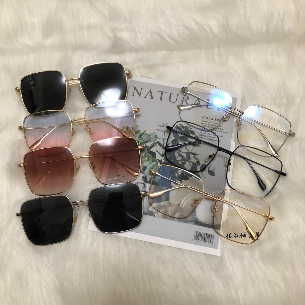 【G099】新色 偏光墨鏡 Ella 周揚青 許路兒 同款 凹造型 復古 大框 墨鏡 太陽眼鏡 平光眼鏡 孫芸芸