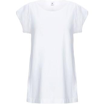 《セール開催中》EUROPEAN CULTURE レディース T シャツ ホワイト XXS コットン 70% / ラミー 30%