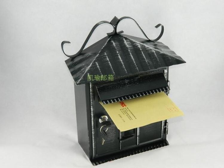 夯貨折扣! 小型家用鐵質帶鎖復古信箱意見箱投訴箱信報箱室外防水掛牆