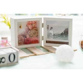 両親贈呈品☆結婚祝い☆ウェディング プレゼント 花時計 写真立て