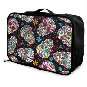 シュガースカル パ 大容量 荷物袋 カジュアル 軽量 スーツケース 旅行荷物収納レバー掛包 ポータブルバッグ