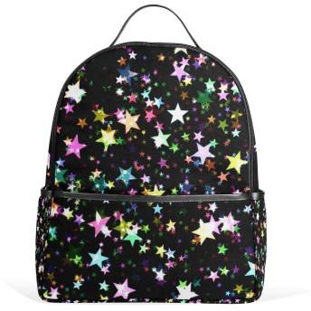 リュック リュックサック バックパック レディース 学生 大容量 デイバッグ カラー 星柄 おしゃれ 通勤 通学