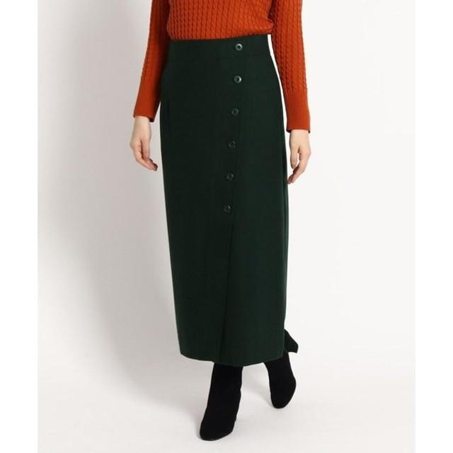 Dessin / デッサン 【S〜Lサイズあり】サキソニーボタンタイトスカート