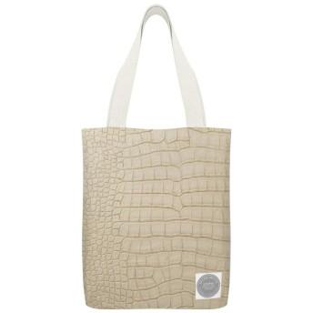 羽毛布団カバーのようなエレガントな日焼けワニ革読者のための再利用可能な洗える100%エコフレンドリーなトートバッグ、および愛好家旅行バッグ、ショッピングバッグ