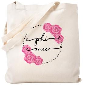CafePress–Phi Muフローラル–ナチュラルキャンバストートバッグ、布ショッピングバッグ S ベージュ 0058492079DECC2