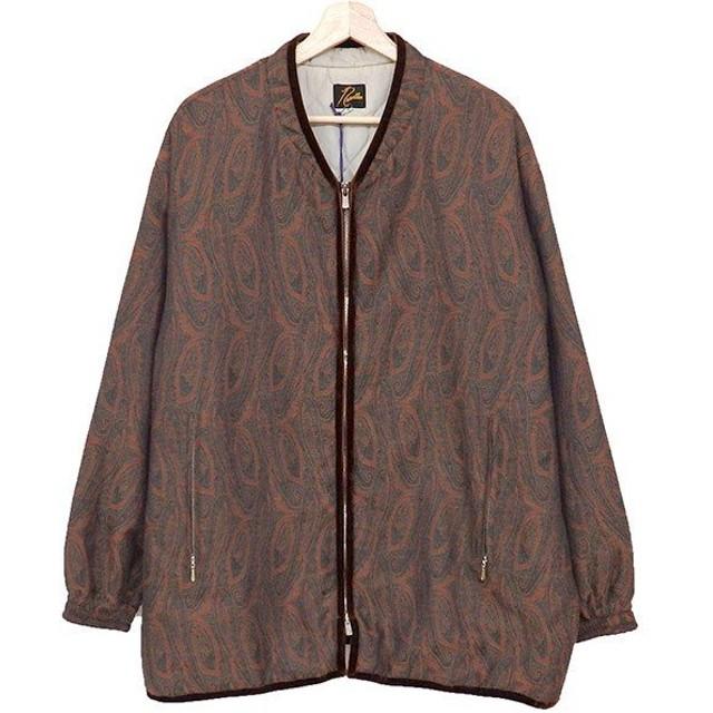Needles Piping Quilt Jacket-Pe C/W Jaquard/Paisley ペイズリー ブラウン サイズ:M (奈良三条通り