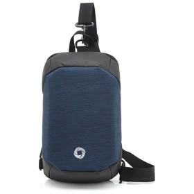 BAJIMI バックパック カメラバッグ 大容量 メンズ耐久走行バックパックデュアル目的胸バッグカジュアル防水オックスフォード布デイパックコマース出張 おしゃれ 収納 旅行 (色 : 青)