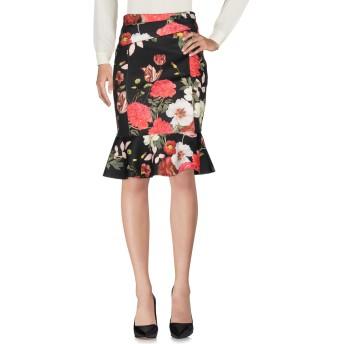 《セール開催中》VDP COLLECTION レディース ひざ丈スカート ブラック 42 ポリエステル 92% / ポリウレタン 8%