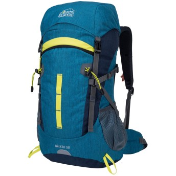 Aveler 50L 男女兼用の軽量 ナイロン 登山リュック,旅行、ハイキング、キャンプ用の高性能リュック- グリーン (Cyan)