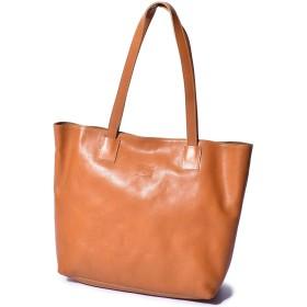 [イルビゾンテ]ILBISONTE BAG バッグ トートバッグ レザー A2440 メンズ レディース 鞄 本革 03.キャラメル フリー [並行輸入品]