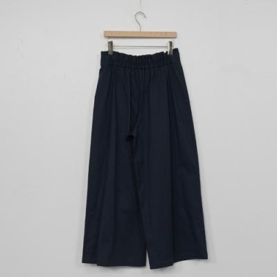 beartwo-簡約腰間扣環寬褲-深藍