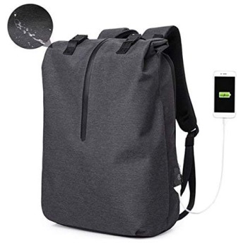 Cornasee Backpack PC 15.6 ''男女用防水、大型バックパックUSBポート付き盗難防止スクールバッグワークバッグ、ブラック
