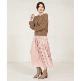 La boutique BonBon(ラブティックボンボン) レディース リキッドスカート ピンク