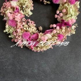 ( ︶ ).。.: pinkが可愛いFlower wreathe Φ28cm