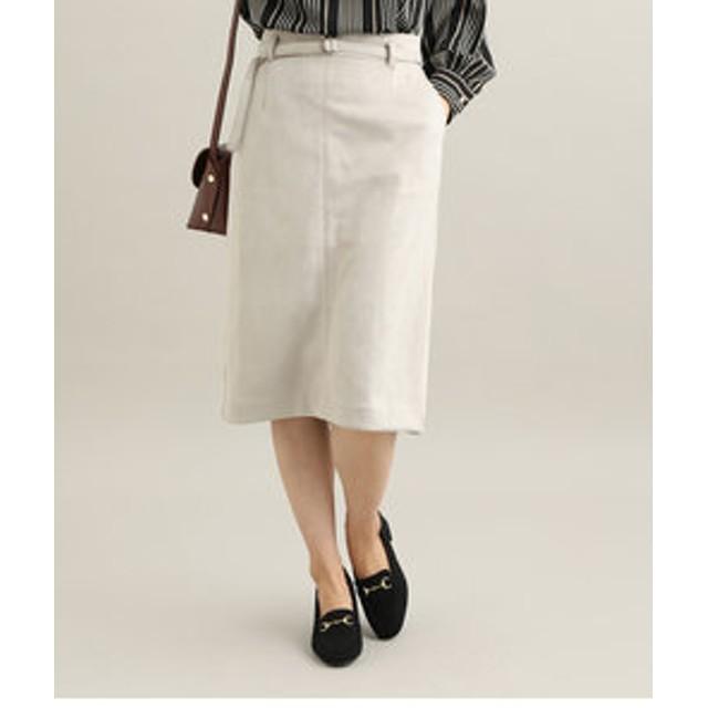 【SALE/送料無料】【ViS:スカート】【MACHINE WASHABLE】 エコスエードタイトスカート