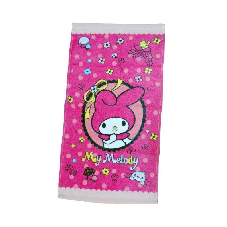 【Sanrio三麗鷗】花漾美樂蒂童巾 100%棉 28x54cm