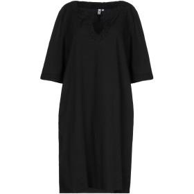 《セール開催中》EUROPEAN CULTURE レディース ミニワンピース&ドレス ブラック XXS コットン 78% / キュプラ 19% / ポリウレタン 3%