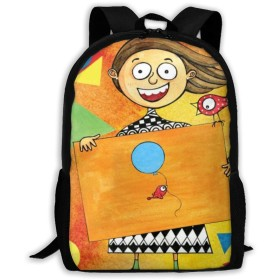 リュックサック バックパック かわいい女の子の簡単な世界 通学 遠足 防水 バッグ 旅行 リュック