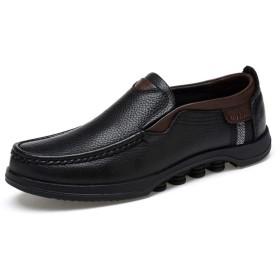 カジュアルシューズ メンズ ウォーキングシューズ ビジネスシューズ 靴 通勤 通学 仕事履き軽量 メンズ靴 紳士 男性 シューズ 敬老の日ギフト疲れないスエード 黒 レースアップ 25.5cm 防滑 抗菌 ブラック/防臭 父の日 ブラック 登山靴