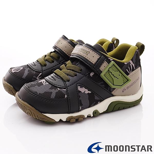 日本Moonstar機能童鞋 Carrot-2E玩耍速乾公園鞋款 22486黑(中小童段)