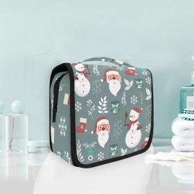 クリスマス雪だるまフクロウぶら下げ折りたたみトイレタリー化粧品化粧バッグ旅行キットオーガナイザー収納ウォッシュバッグケース用女性女の子浴室