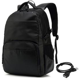 BAJIMI バックパック カメラバッグ 大容量 メンズ耐久走行バックパックの耐摩耗USBカジュアル防水オックスフォード布のラップトップデイパックコマース出張 おしゃれ 収納 旅行 (色 : ブラック)