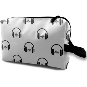 ヘッドフォンの音 化粧品袋 化粧箱 化粧品収納バッグ ウォッシュバッグ 化粧ポーチ トイレタリーバッグ メイクポーチトラベルバッグ 人気 大容量 機能的