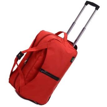 ボストンキャリー ハンドバッグ スーツケース 無地 収納力 手荷物入れ ファッション 上品 男女兼用 選べる2サイズ 5色展開 遠足 出張用 国内旅行 ドライブ ギフト プレゼント 肘がけバッグ レッド