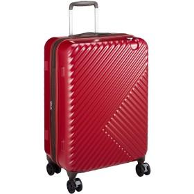 [サンコー] スーツケース ジッパー るるぶキャリー RRBZ-56 双輪 エキスパンド機能付き 53L 56 cm 3.7kg レッド