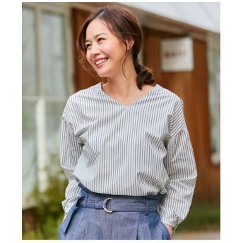 【防シワ】コットンVネックシャツ