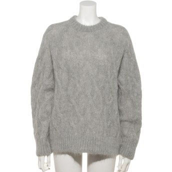 [GREED]Kid Mohair Cable Knit Sweater